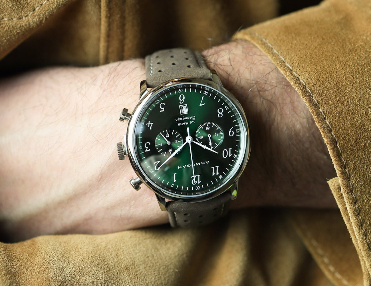 Armorgan Emerald Green Chronograph Watch