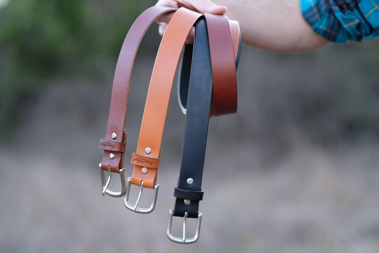 Arrow & Board Classic Leather Belts