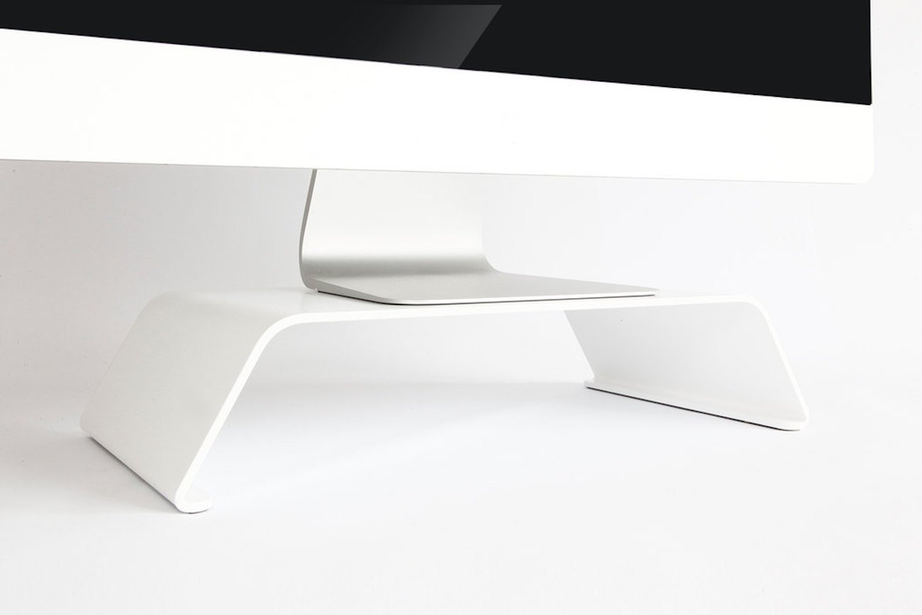 BANERET Matte White Computer Stand