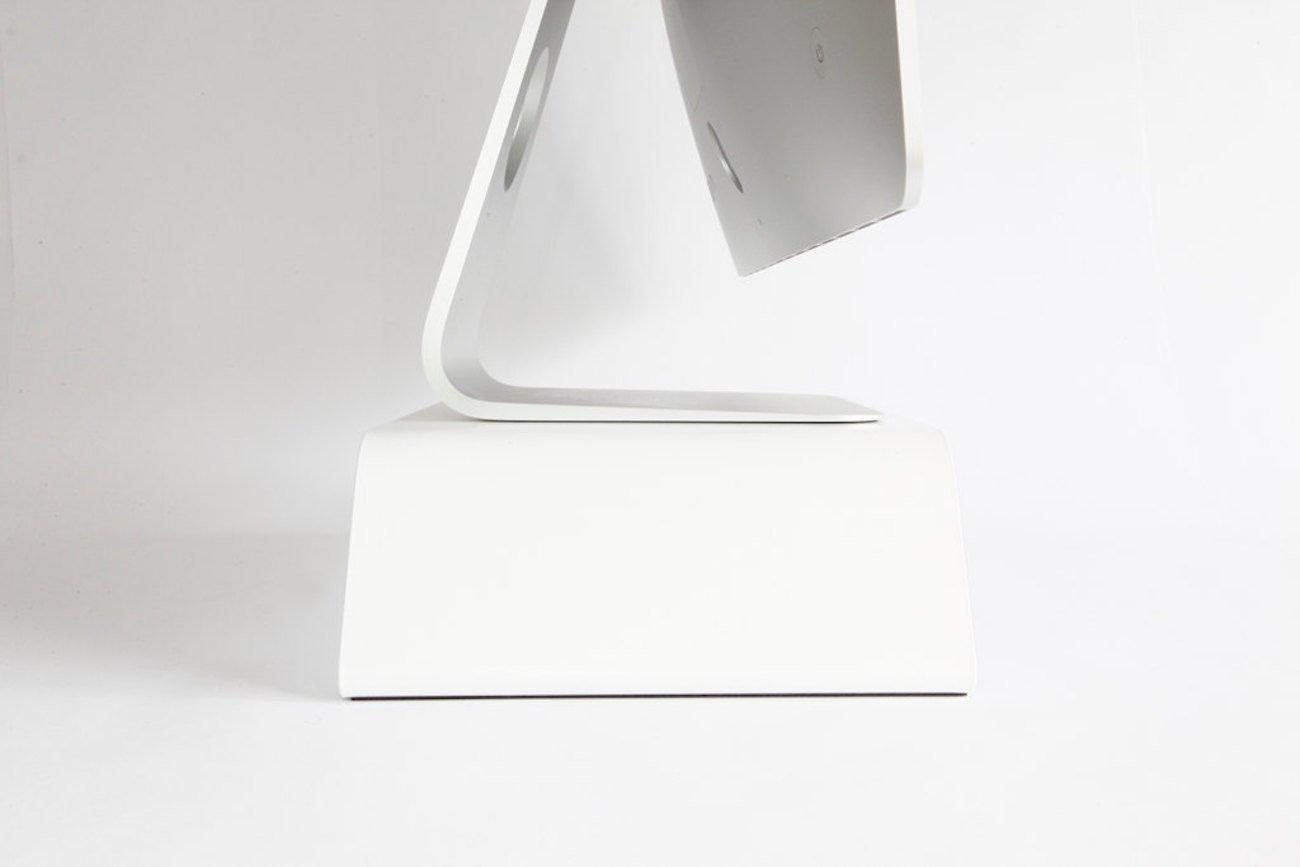BANERET Matte White Computer Stand