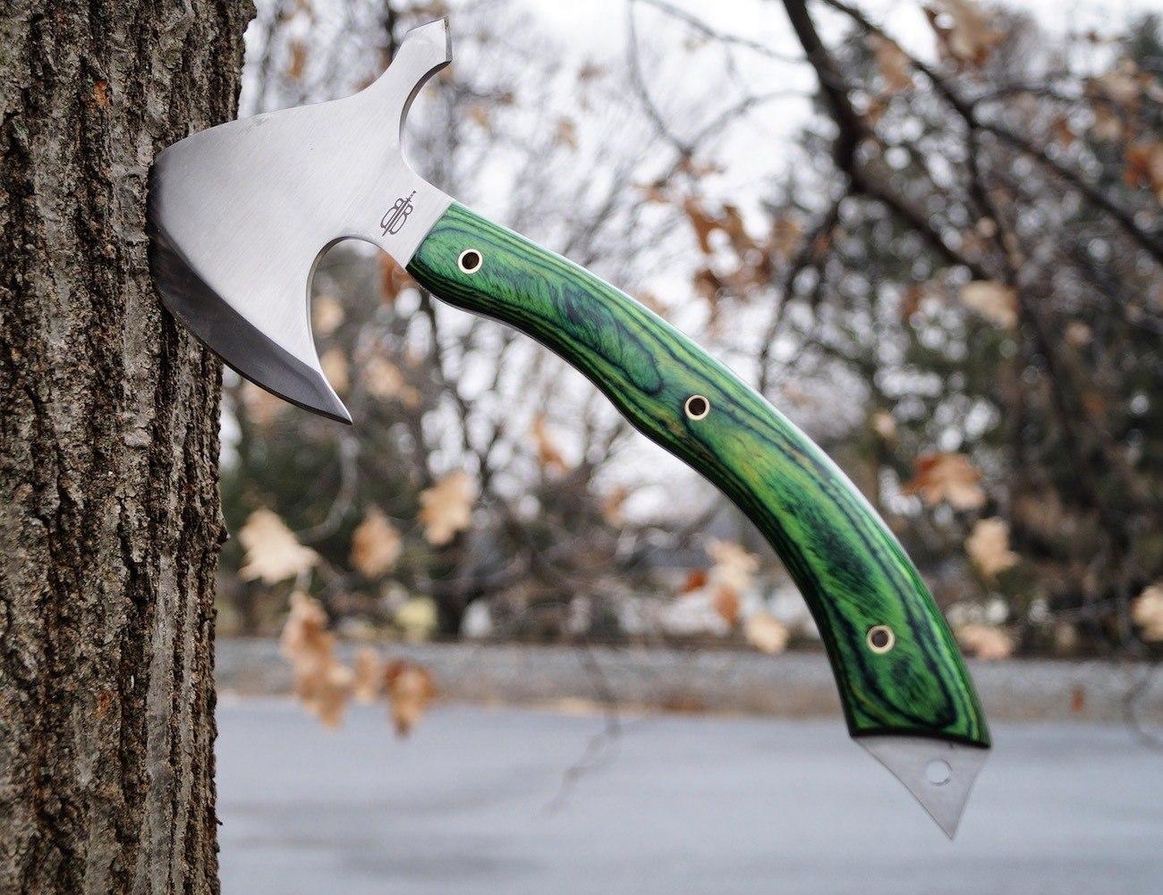 BucknBear Survival Tomahawk Axe Knife