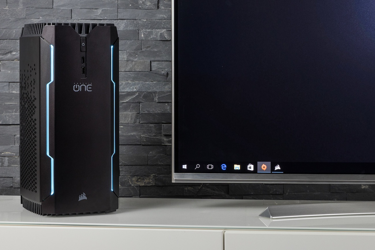corsair one pro compact gaming pc review the gadget flow. Black Bedroom Furniture Sets. Home Design Ideas