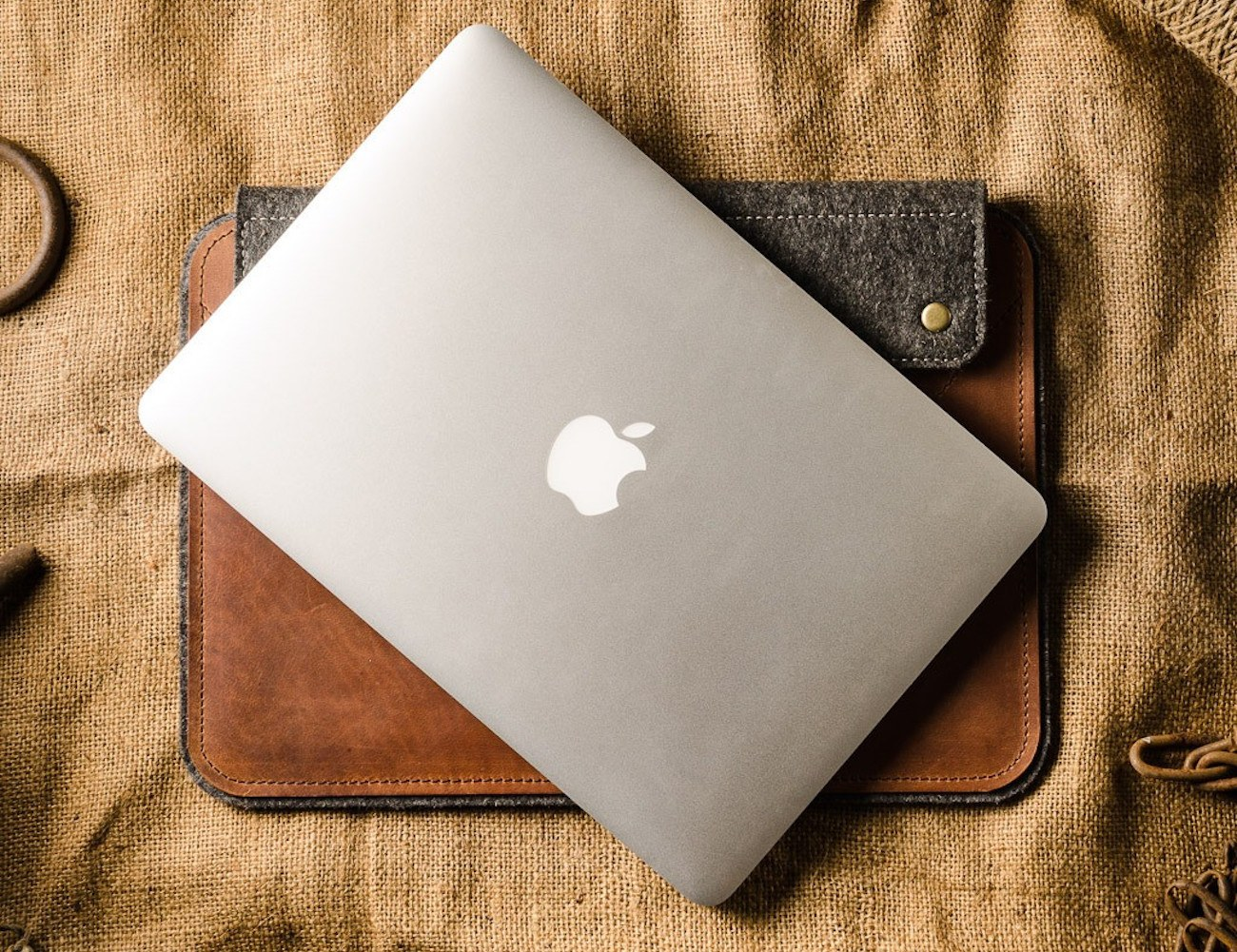 Crazy Horse Leather Felt MacBook Case