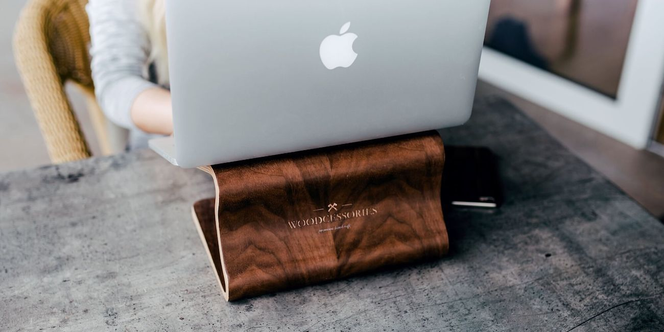 EcoLift Wooden Laptop Stand