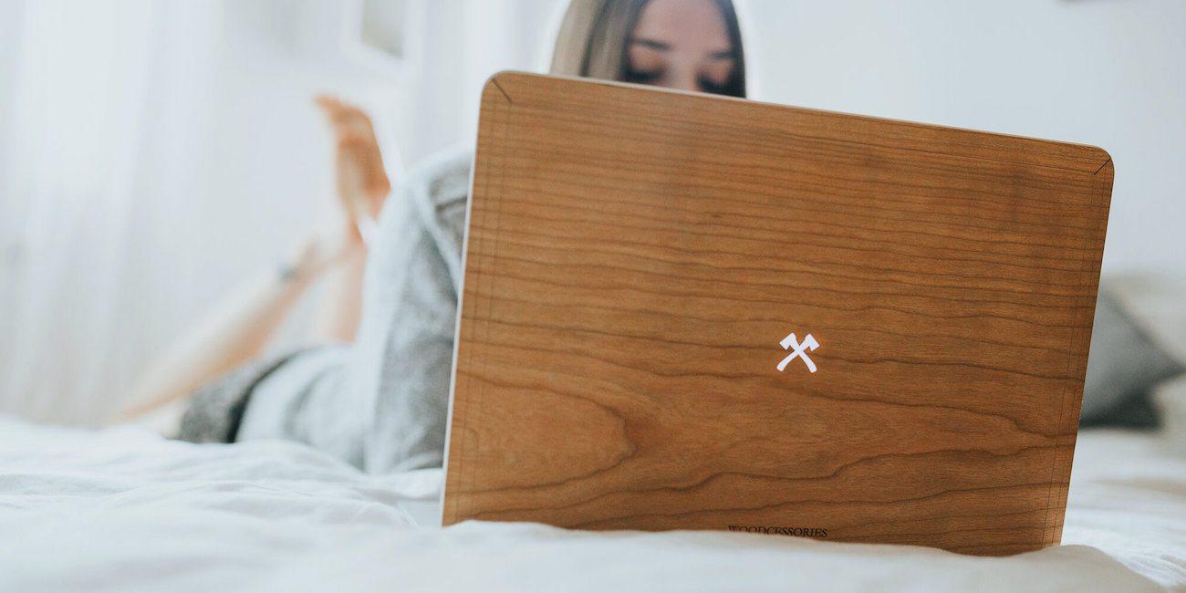 EcoSkin Wooden MacBook Axe Skin
