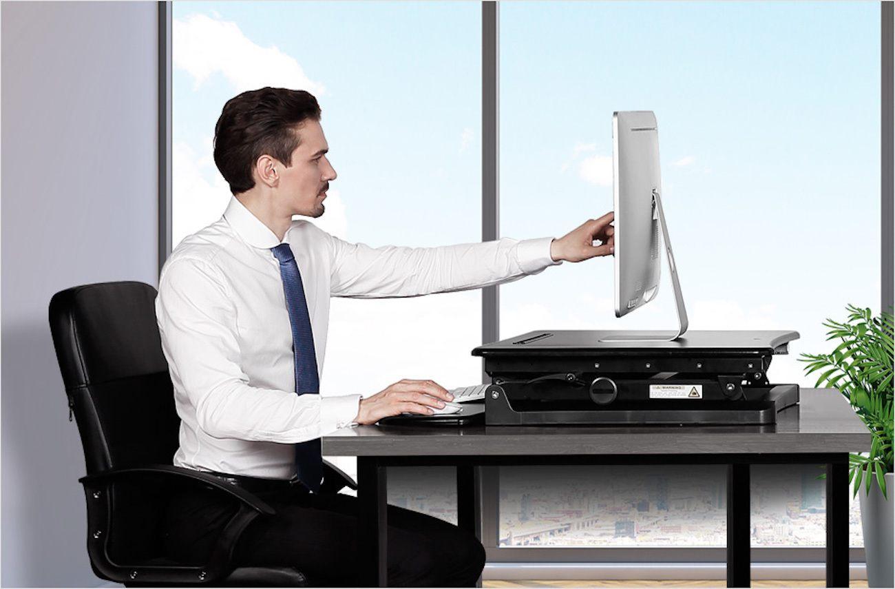 Sit-Stand+Desktop+Workstation