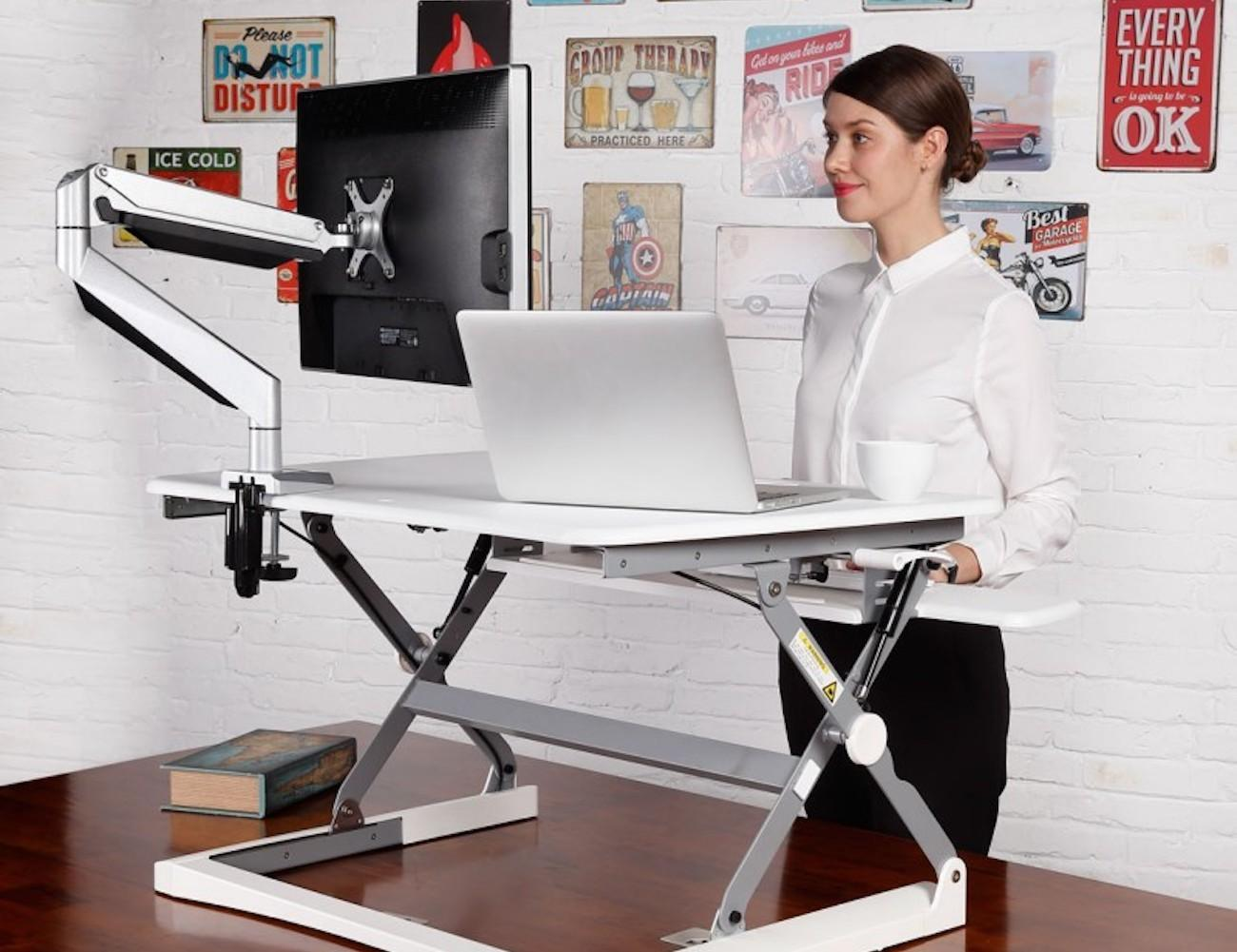 FlexiSpot M-Series Sit-Stand Desktop Workstation