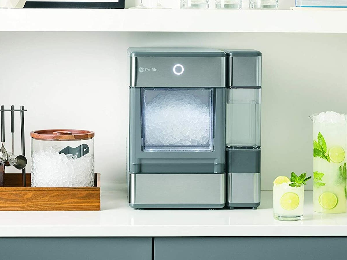 GE Profile Opal nugget ice maker creates satisfying nugget ice in under 20 minutes