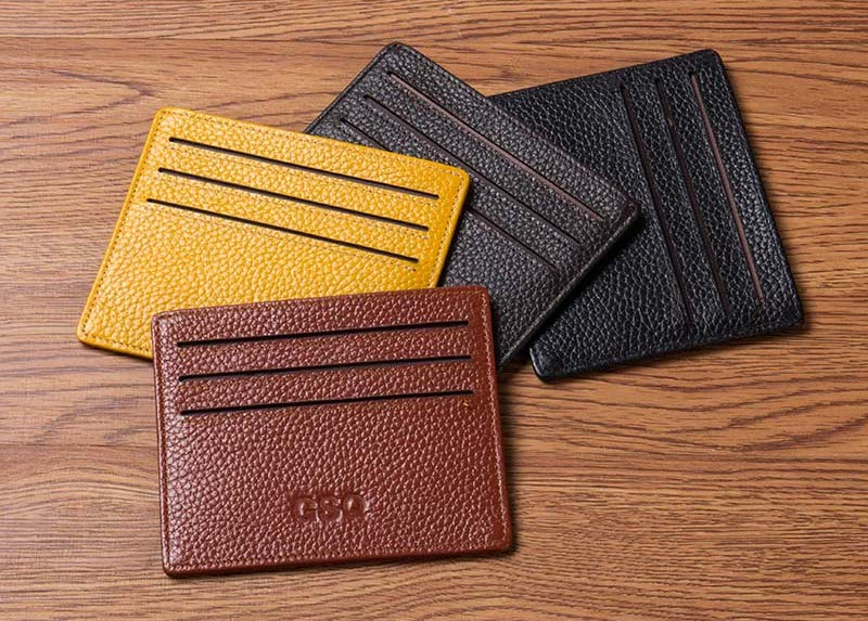Slim Leather Card Holder