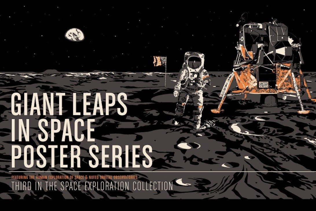 Giant Leaps in Space Poster Series