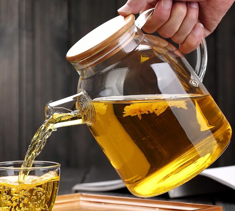 Hand Blown + Heat-Resistant Glass Kettle