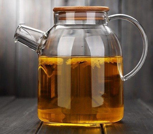 Hand Blown + Heat-Resistant Glass Kettle