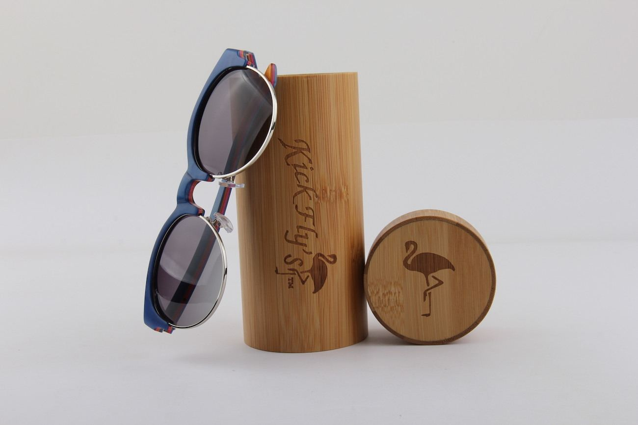 KickFly's Skateboard Wood Sunglasses
