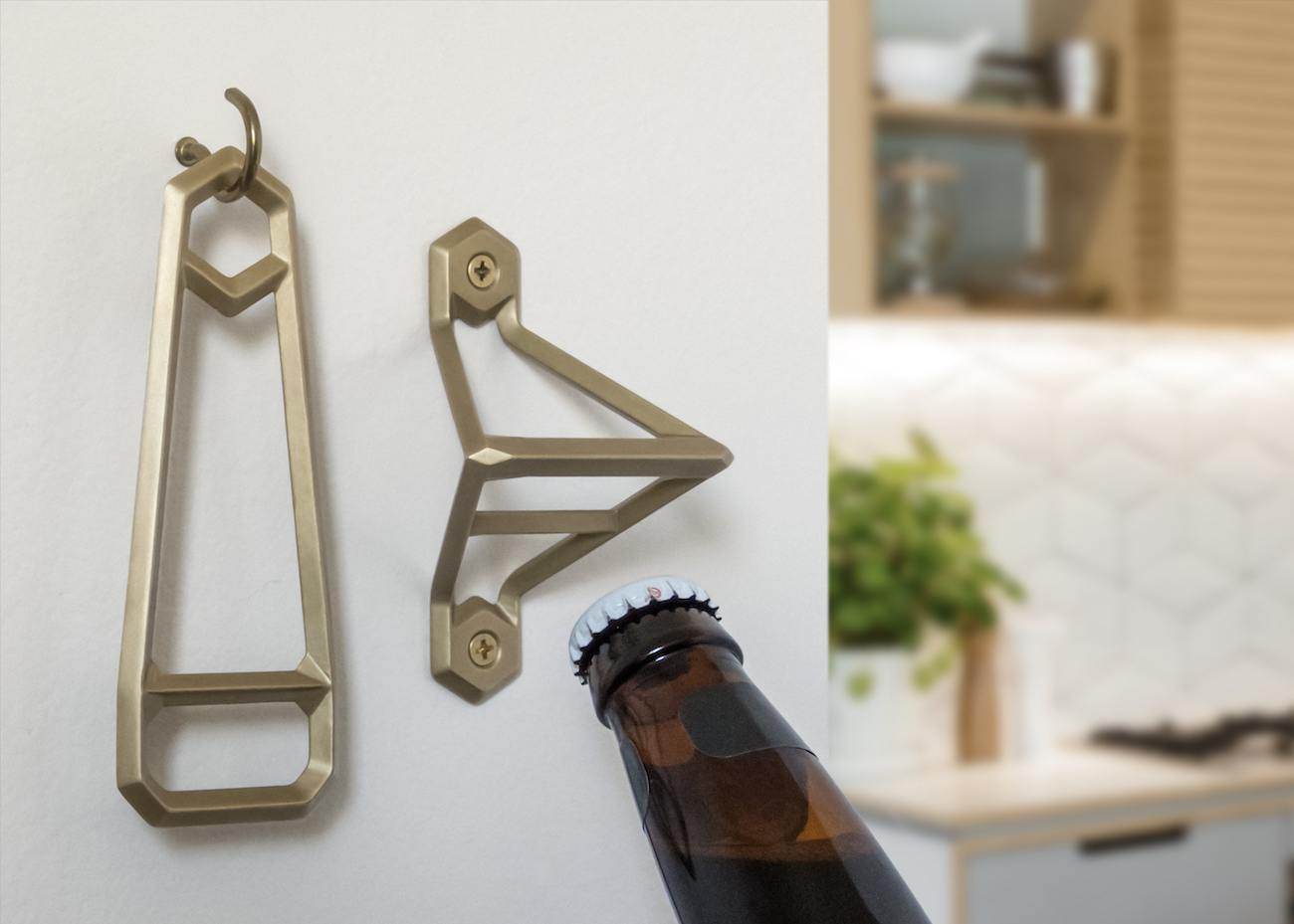 Leverage Brass Bottle Openers by Wander Workshop