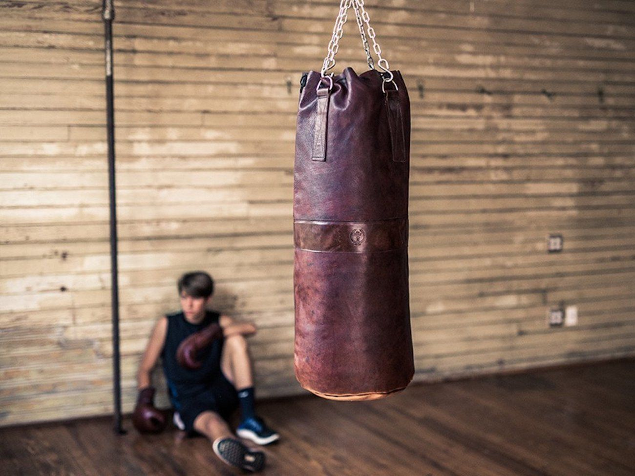 MVP Heritage Leather Heavy Punching Bag loading=