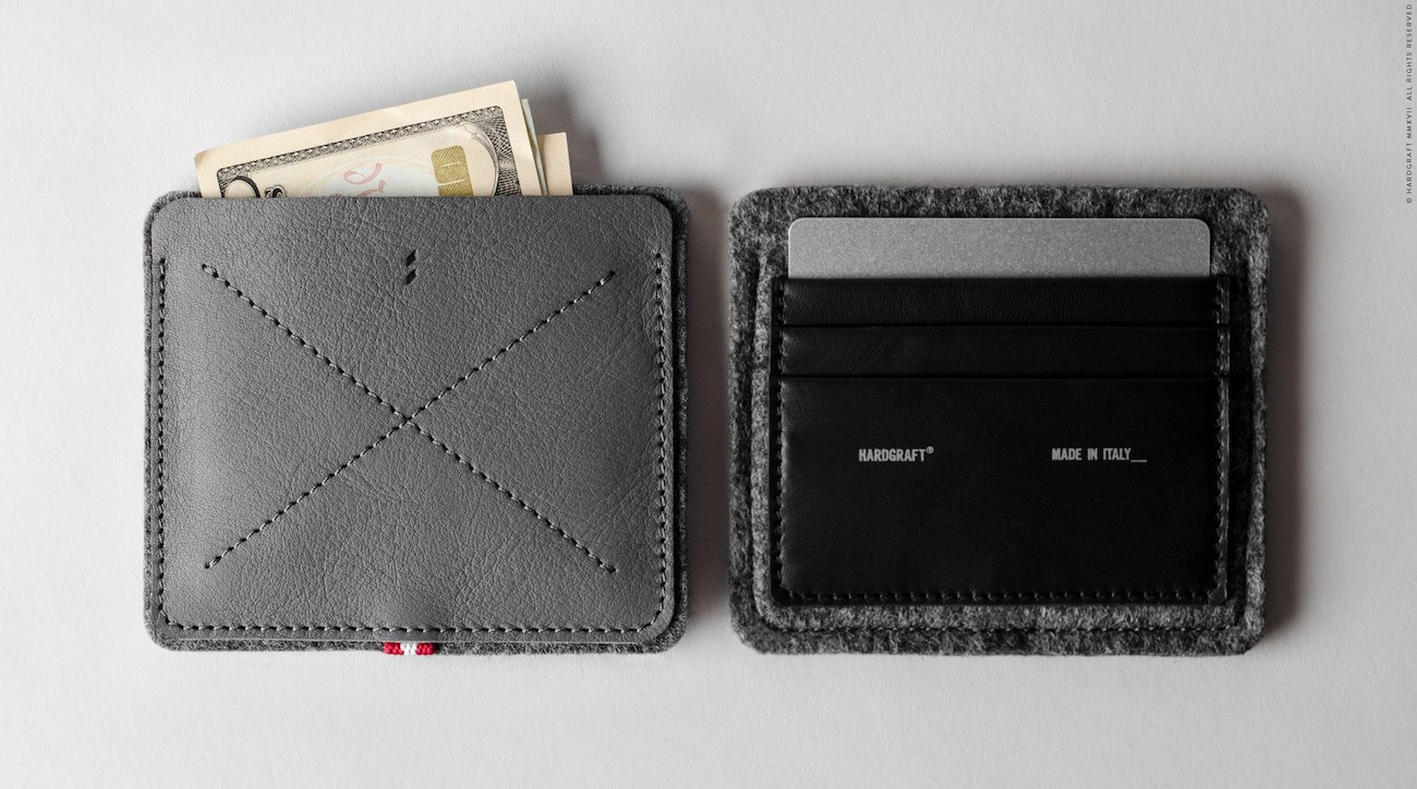 No Fold Slim Minimal Wallet by Hard Graft