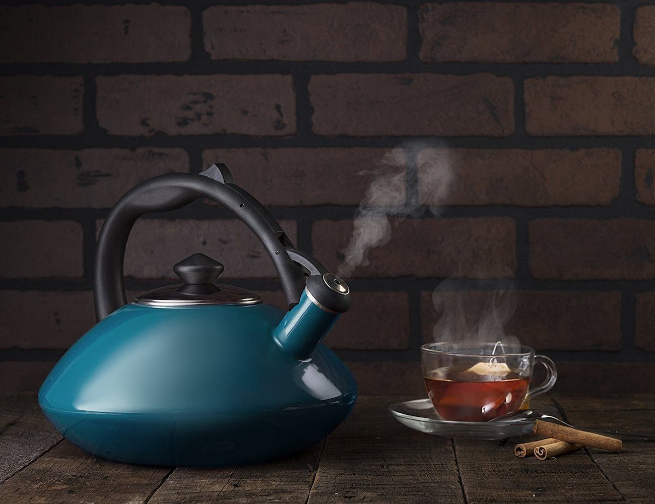 Osaka Enamel Whistling Tea Kettle