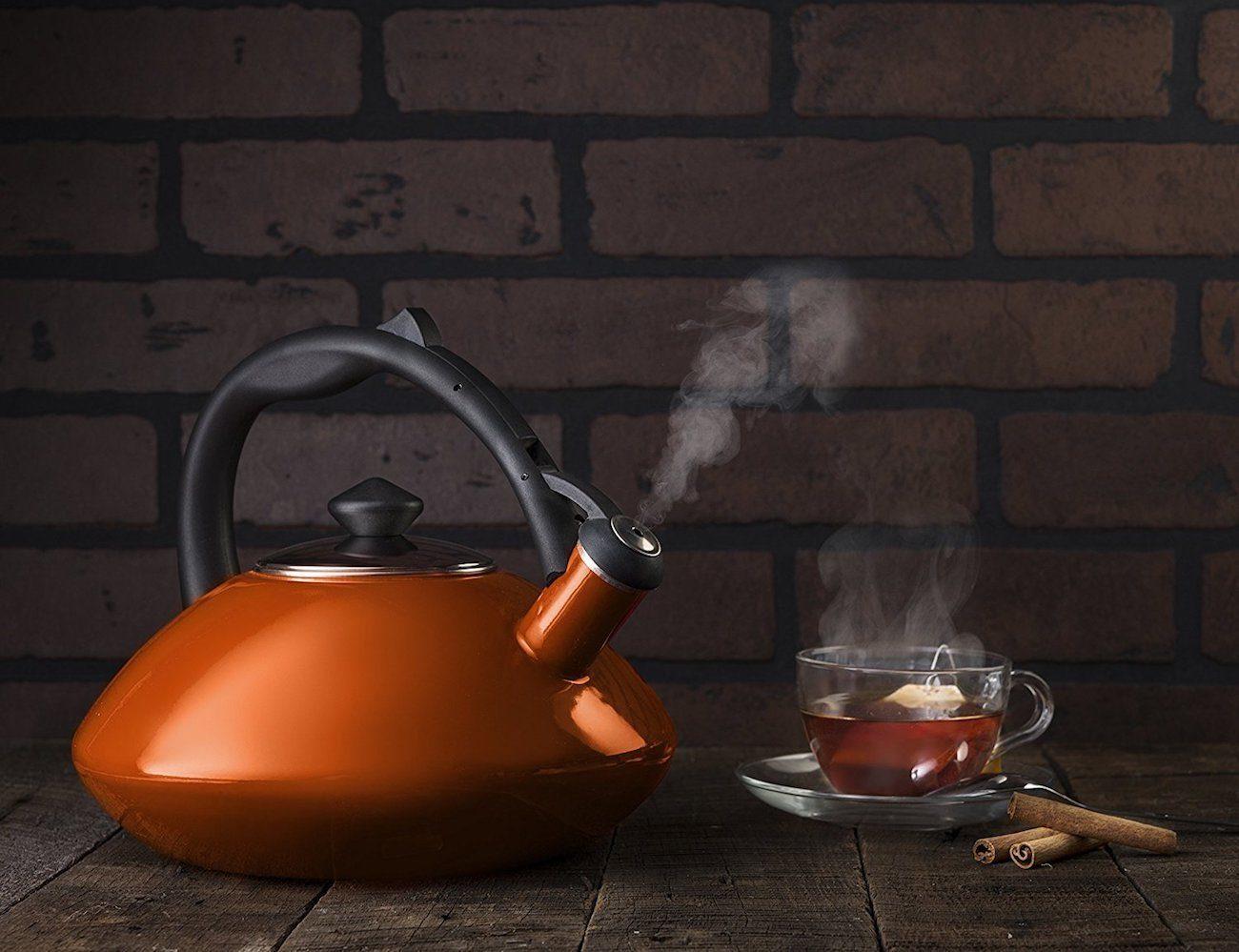 Osaka Enamel Whistling Tea Kettle