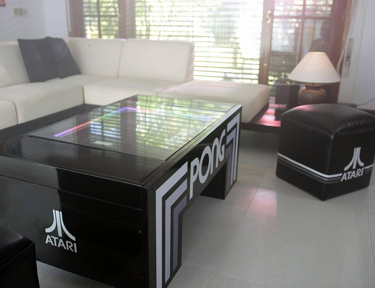 Atari Pong Multifunctional Coffee Table Gadget Flow