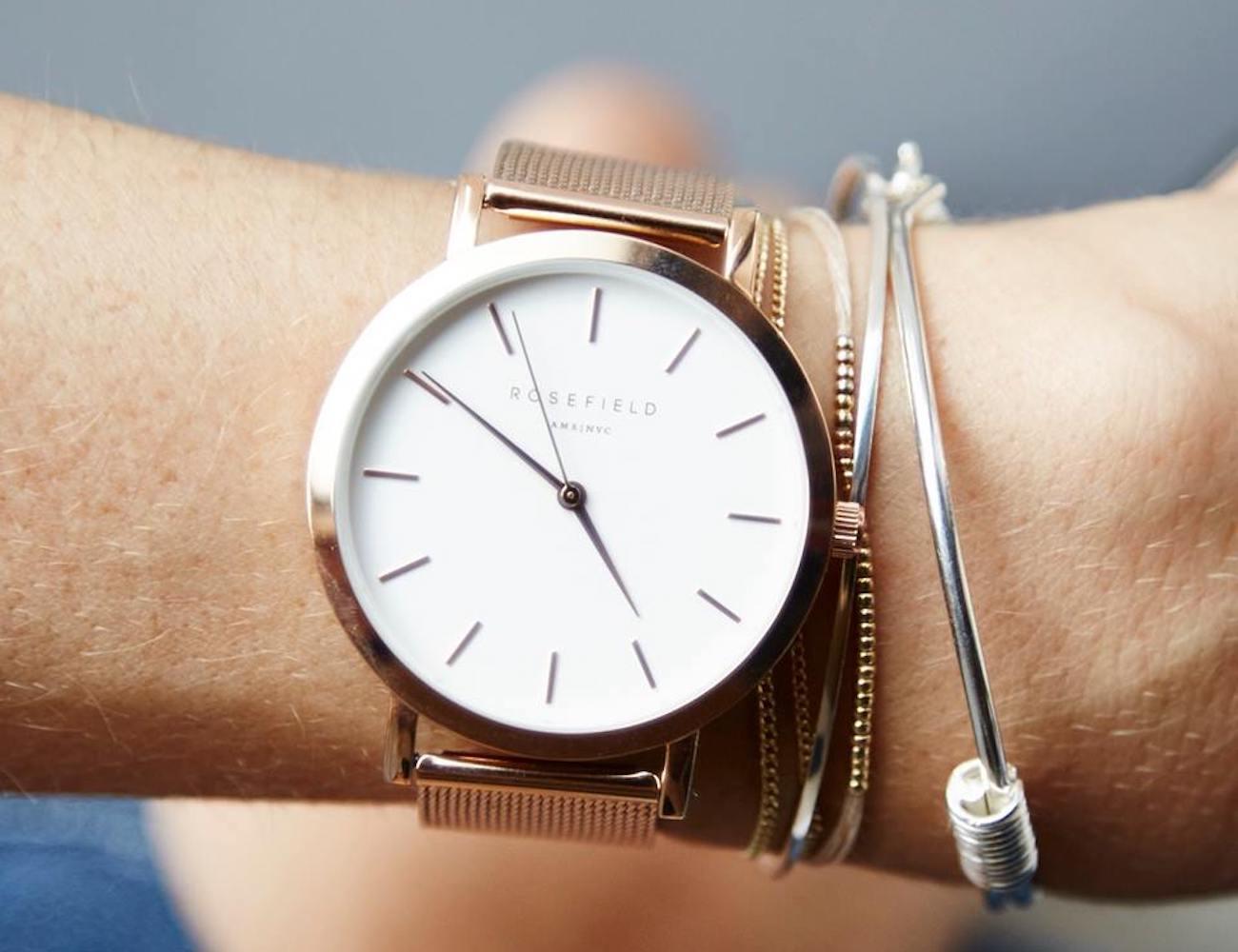 Rosefield Tribeca Rose Gold Watch