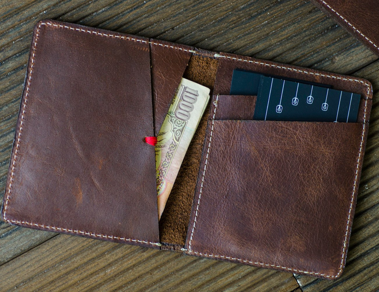 Rustic Brown Slim Bi-Fold Wallet