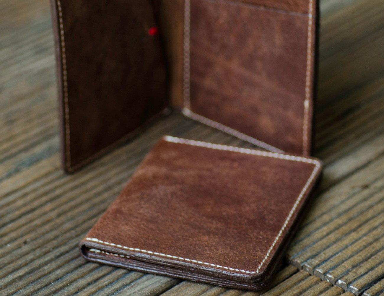 Rustic Brown Slim Bi-Fold Wallet