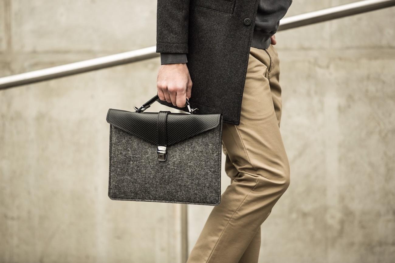 Slim Felt Laptop Briefcase by ÉSTIE