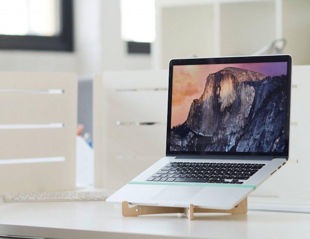 Stood Minimal Wood Laptop Stand