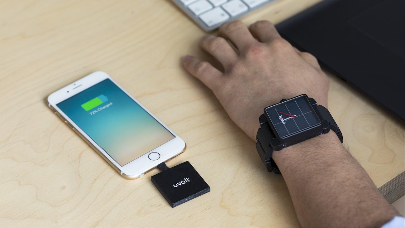 Uvolt+Smartphone+Charging+Solar+Watch