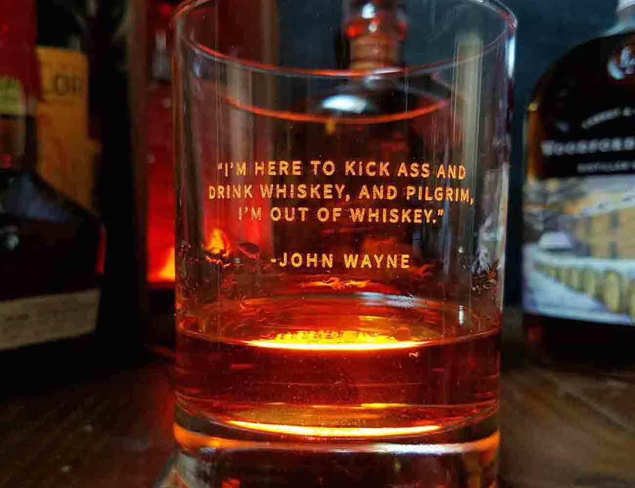 Whiskey Lovers Engraved Whiskey Glasses