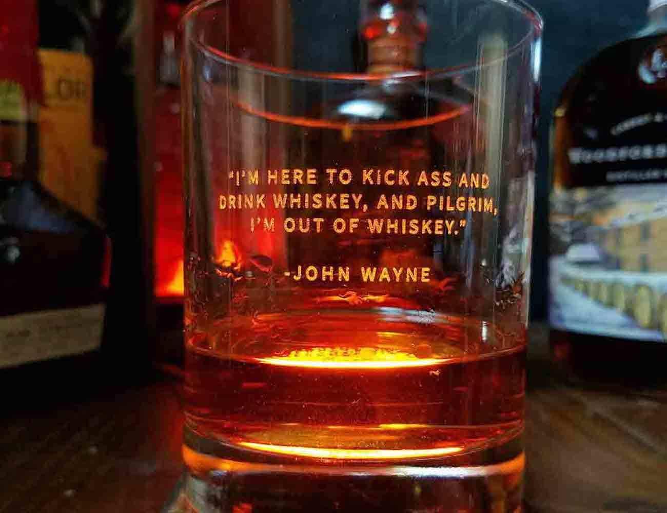Whiskey Lovers Engraved Whiskey Glasses