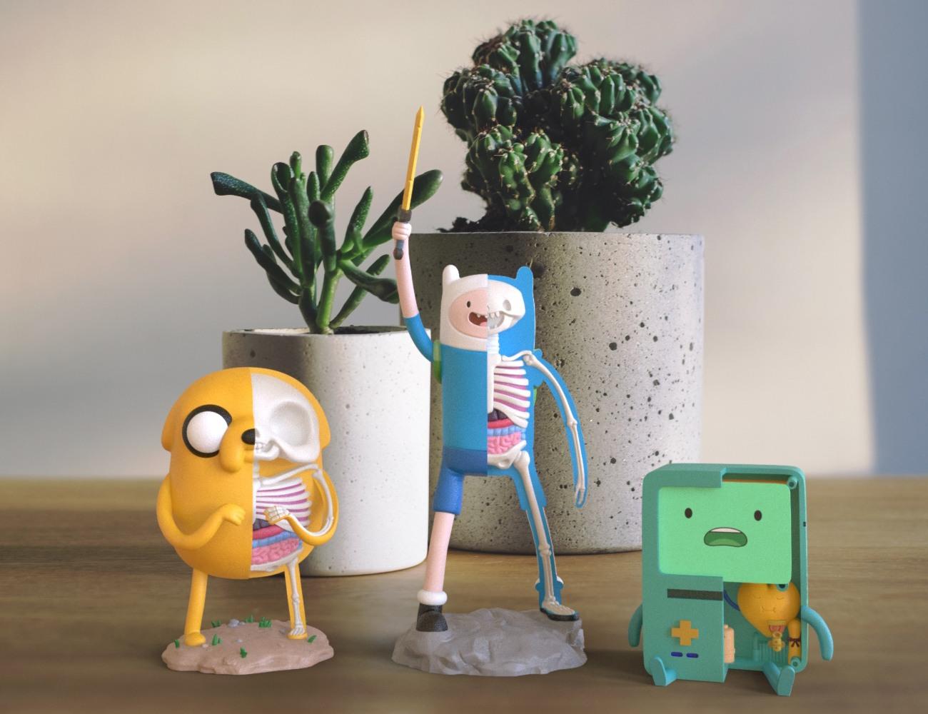 XXRAY+Collection+Cartoon+Figurines