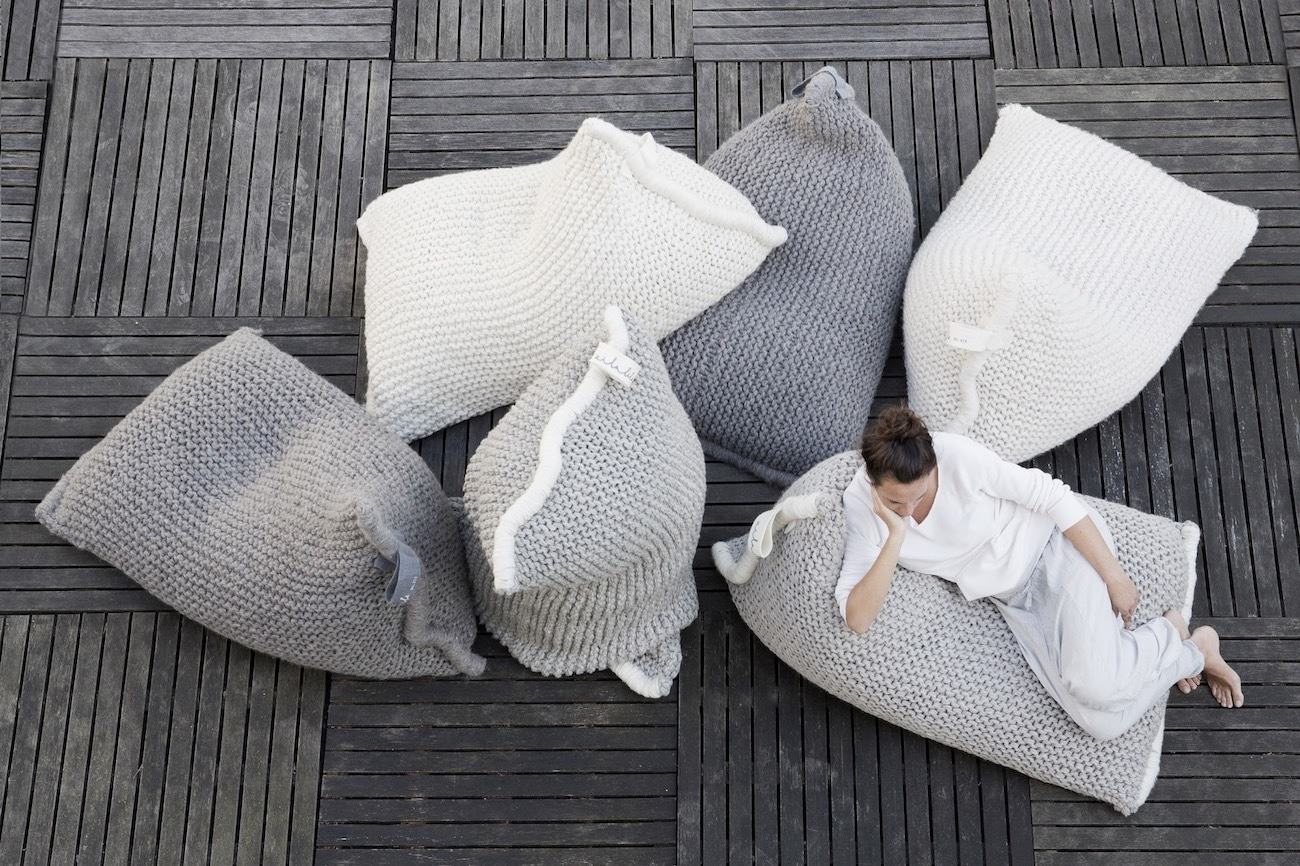 Zilalila+Nest+Knitted+Bean+Bag