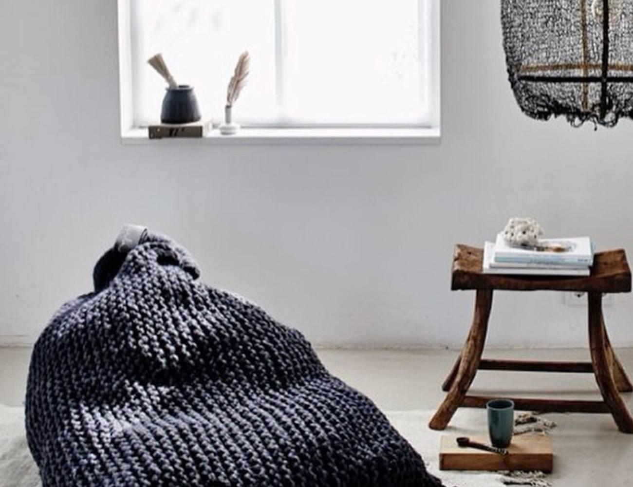 ... Zilalila Nest Knitted Bean Bag