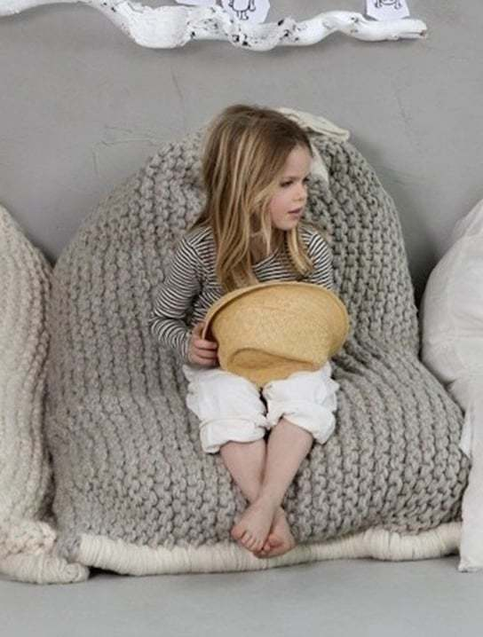 Knitted bean bag teddy pattern