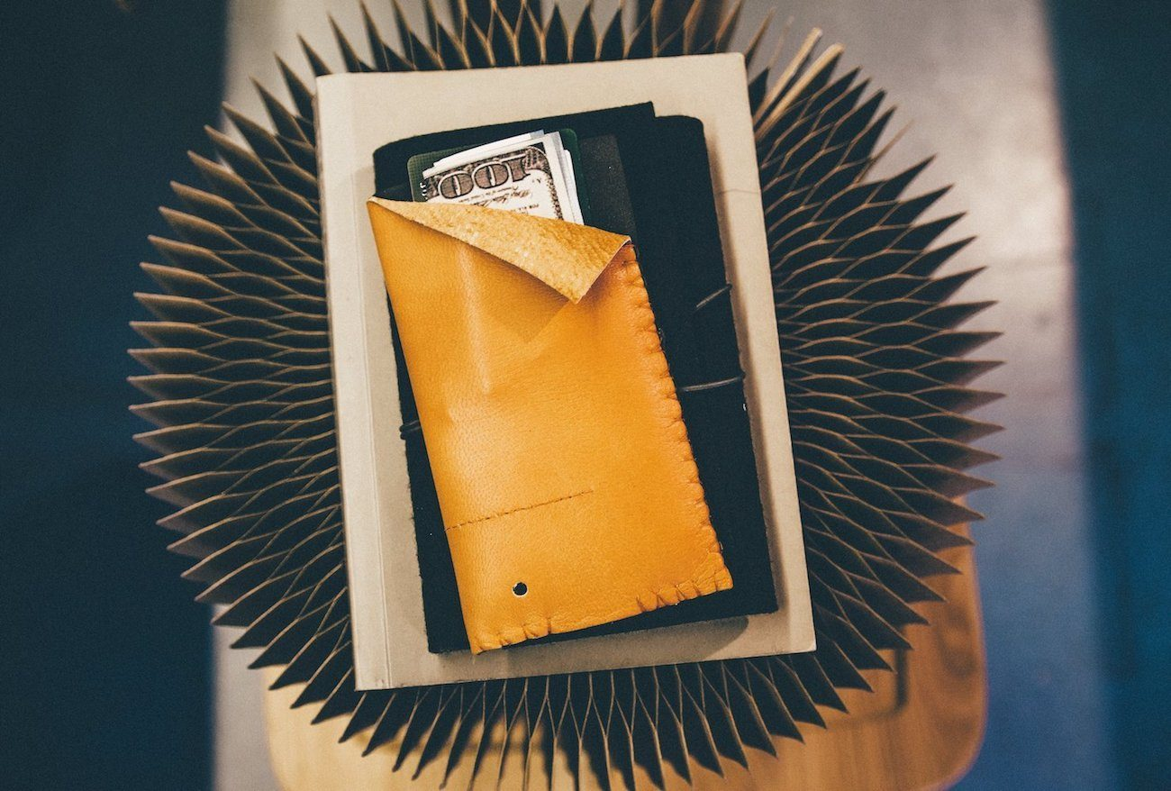 this.seven Tabac Leather iPhone Sleeve