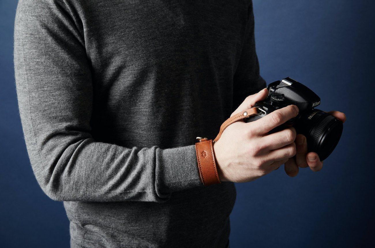 Adjustable Leather DSLR Wrist Strap