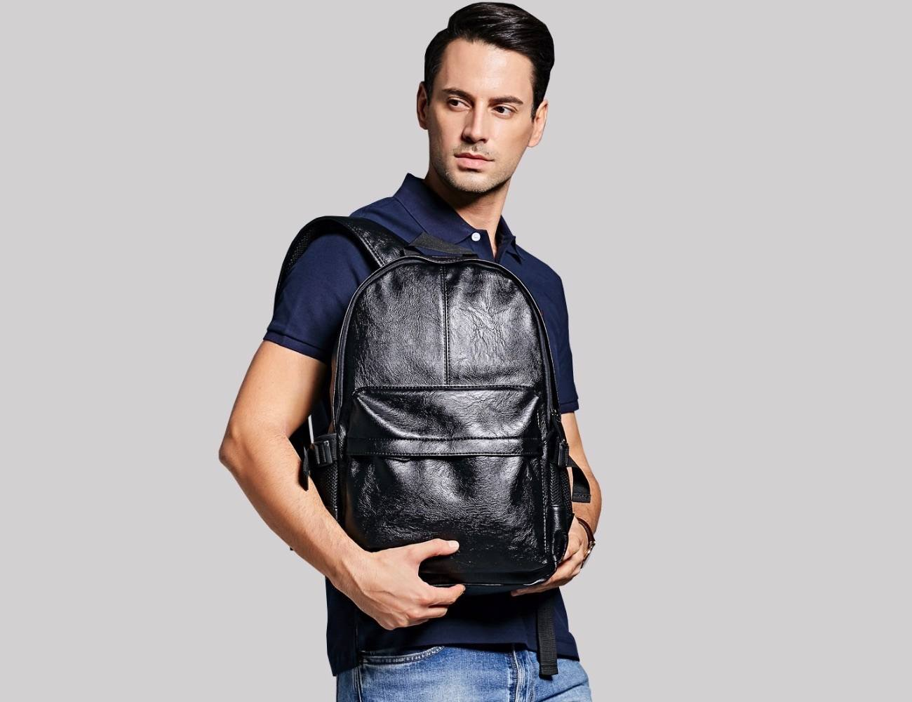 Large Sized Everyday Leather Backpack