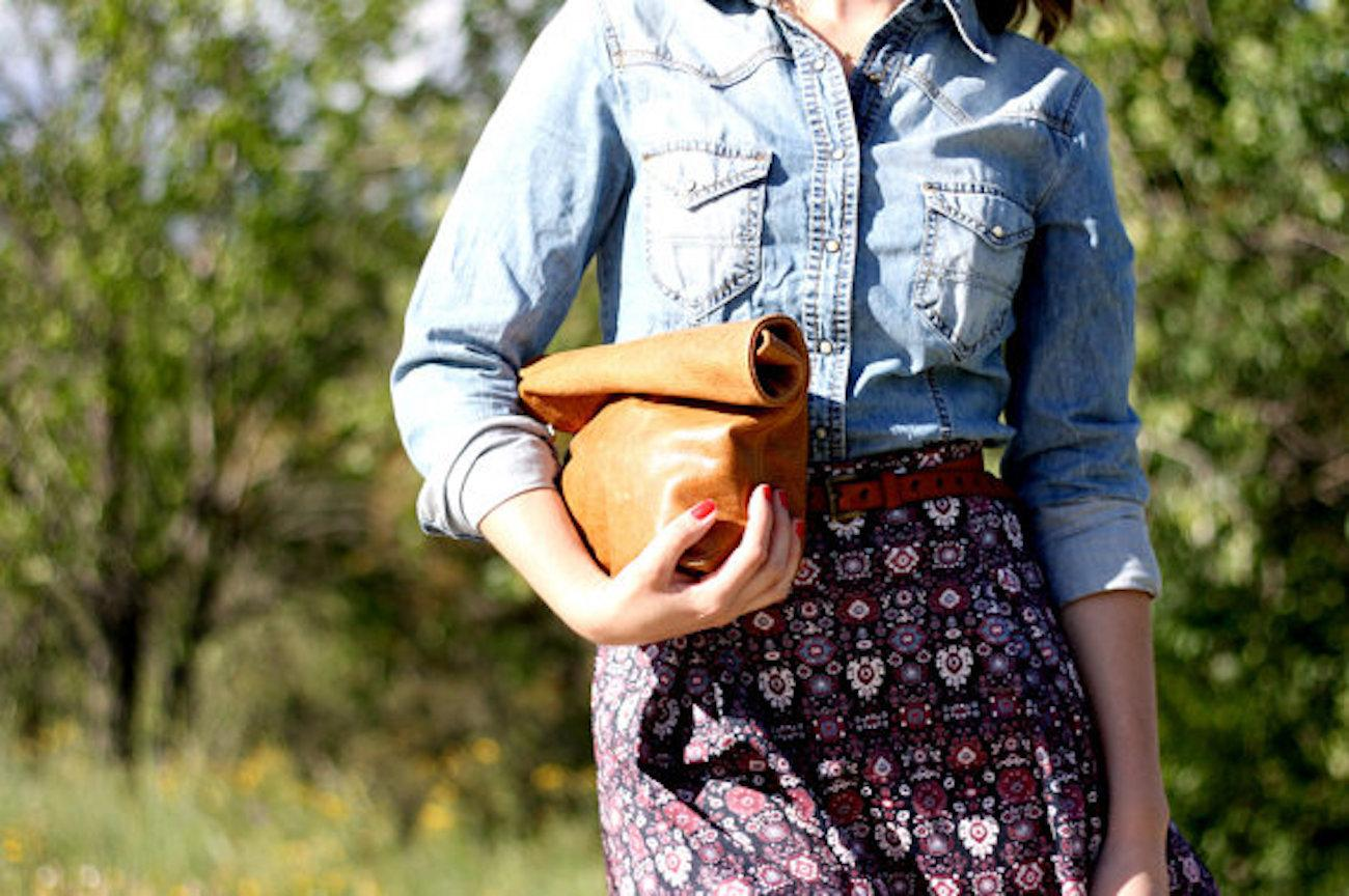 Barneto+Whisky+Brown+Leather+Clutch
