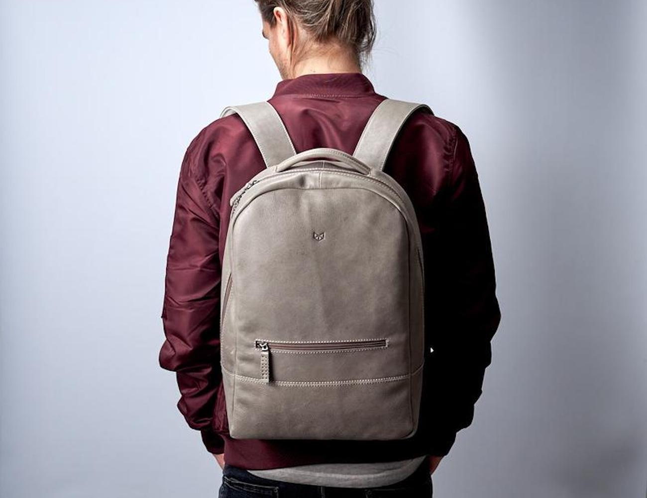 Capra+Leather+Bisonte+Backpack