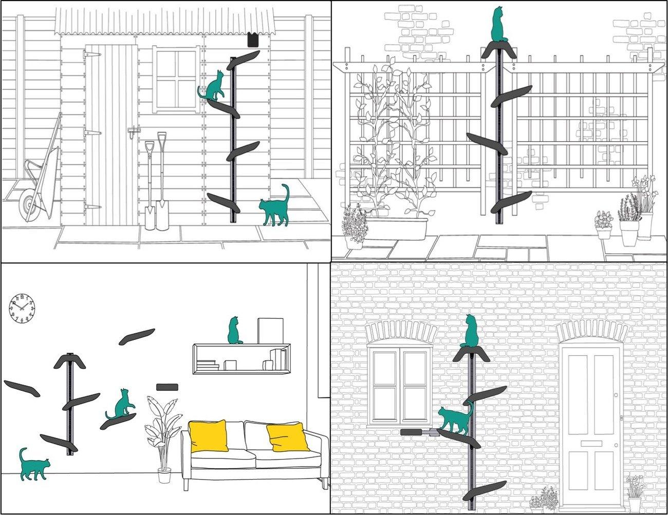 Catipilla Modular Cat Climbing Frame