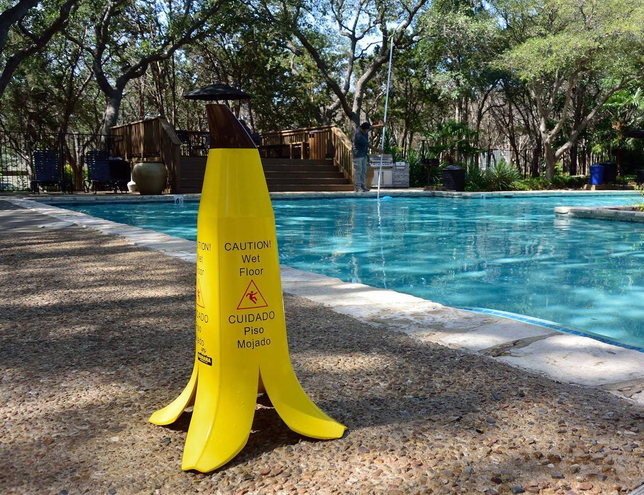 Caution! Wet Floor Banana Cone Set