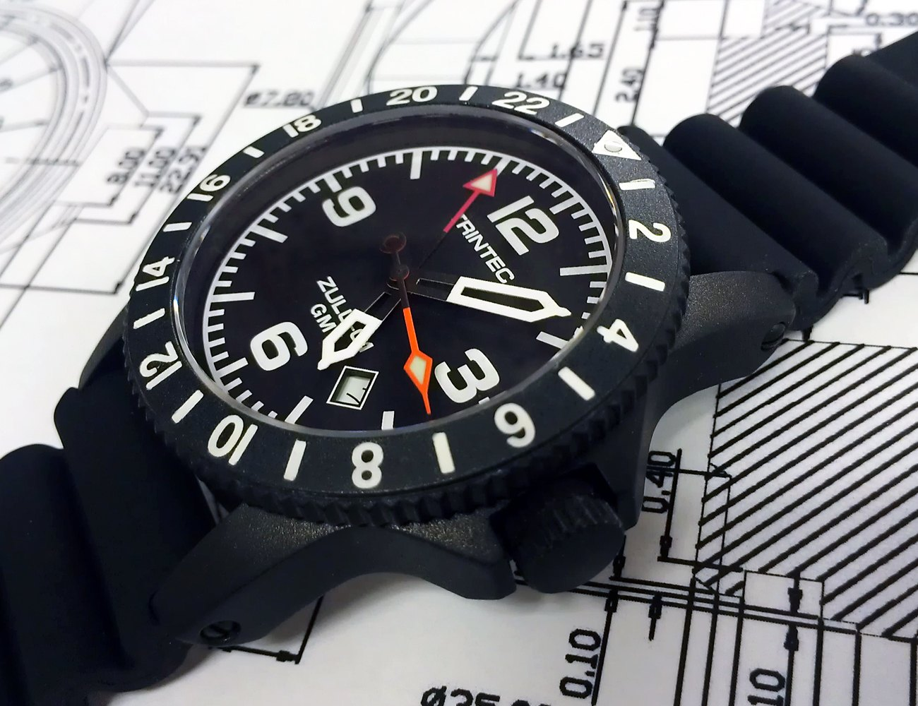 CoPilot GMT Quartz Aviator Watch