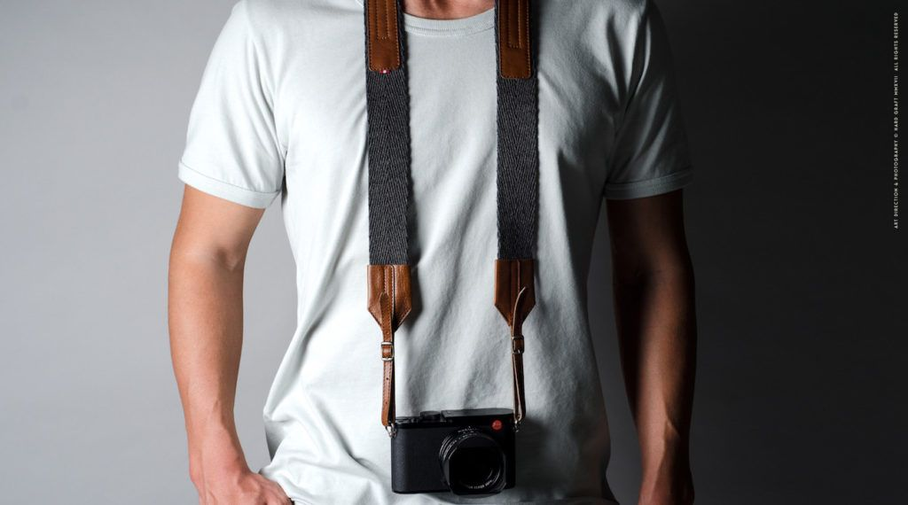 Contrast+Leather+Camera+Strap