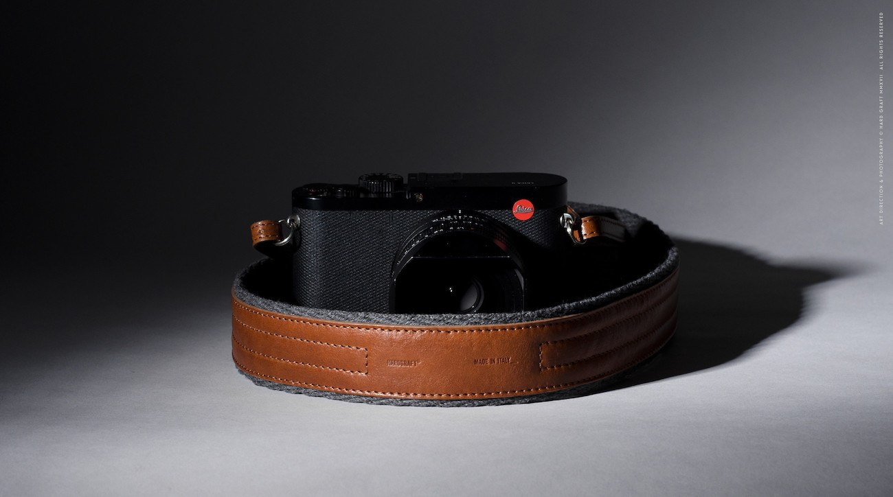 Contrast Leather Camera Strap