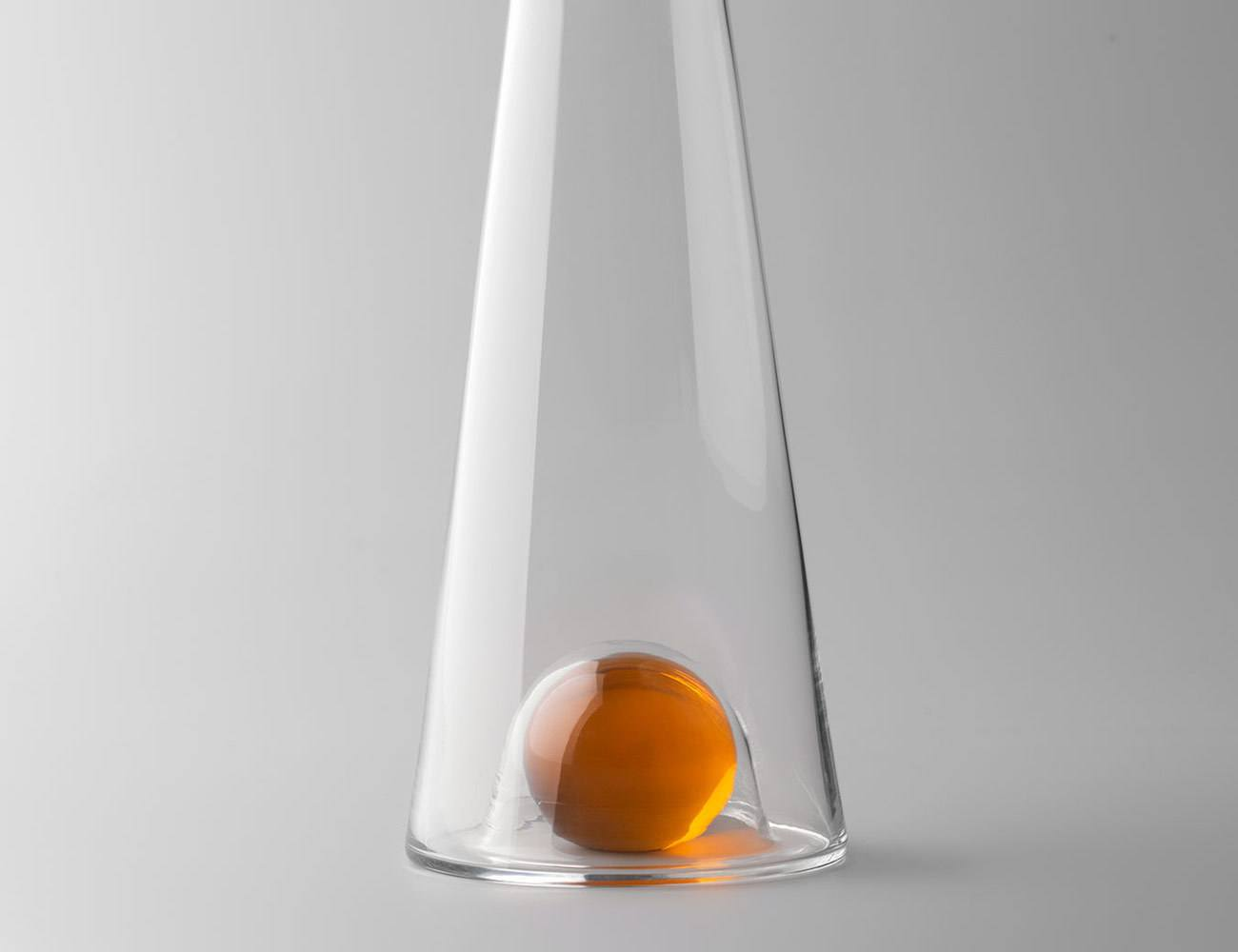Fia Mouth-Blown Glass Carafe