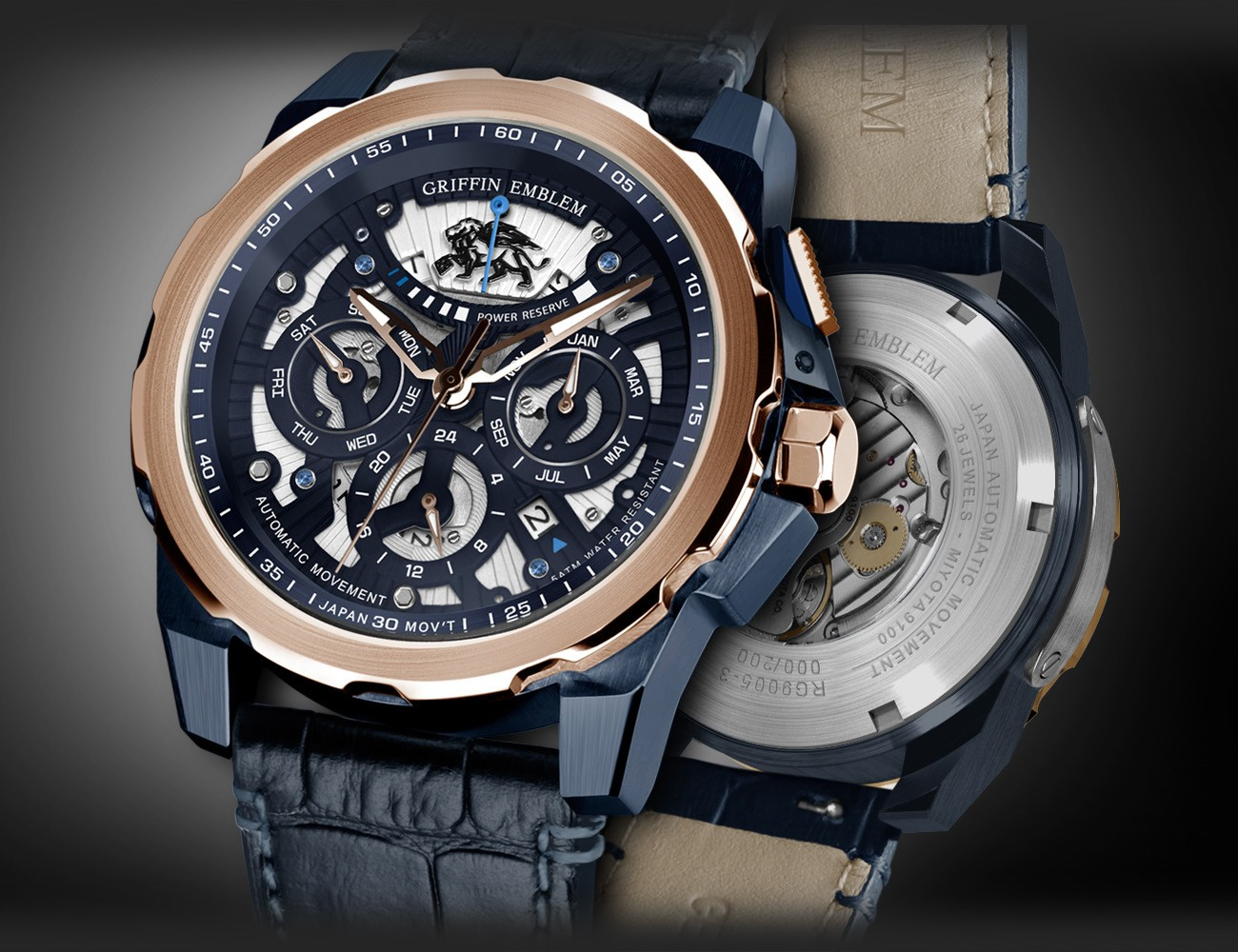 Griffin Emblem Skeleton Watches