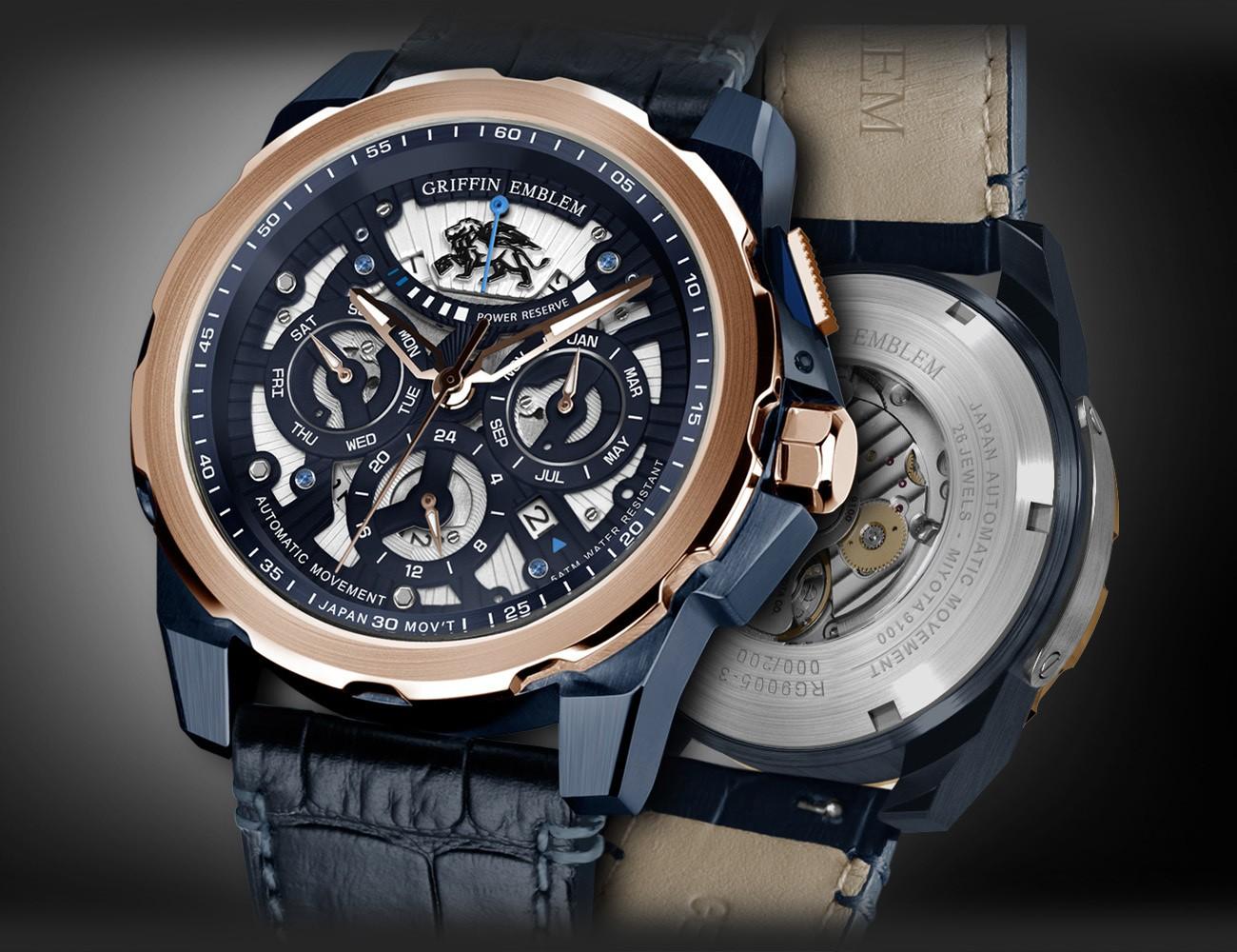 Griffin Emblem Skeleton Watches