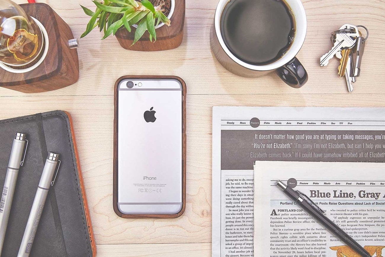 Grovemade Walnut iPhone Bumper