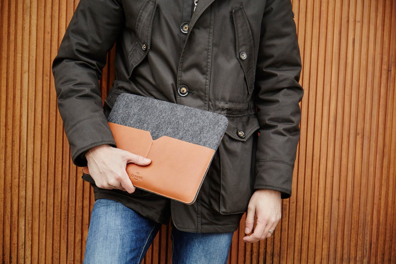 Harber London Leather MacBook Sleeve